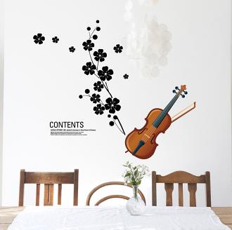 【壁貼王國】 音樂系列無痕壁貼 《小提琴 - AY934》
