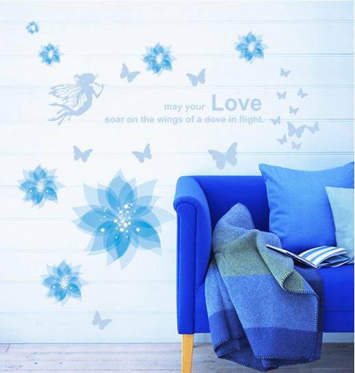 【壁貼王國】 園藝系列無痕壁貼 《藍精靈/B - AY932》