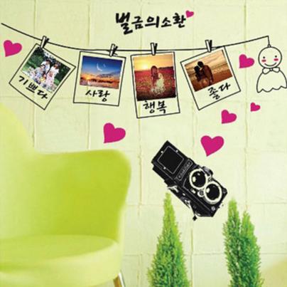 【壁貼王國】 相片貼系列 無痕壁貼 《韓文相片貼 - AY942 BA》