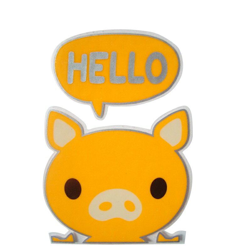 【壁貼王國】 夜光型開關系列無痕貼紙 《小豬仔 - SK216》