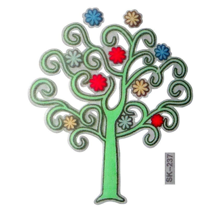 【壁貼王國】 夜光型開關系列無痕貼紙 《繽紛小樹 - SK237》