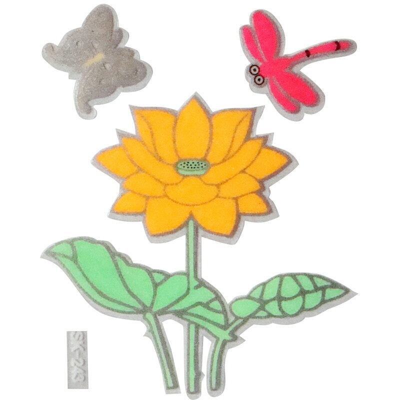 【壁貼王國】 夜光型開關系列無痕貼紙 《蓮花 - SK243》