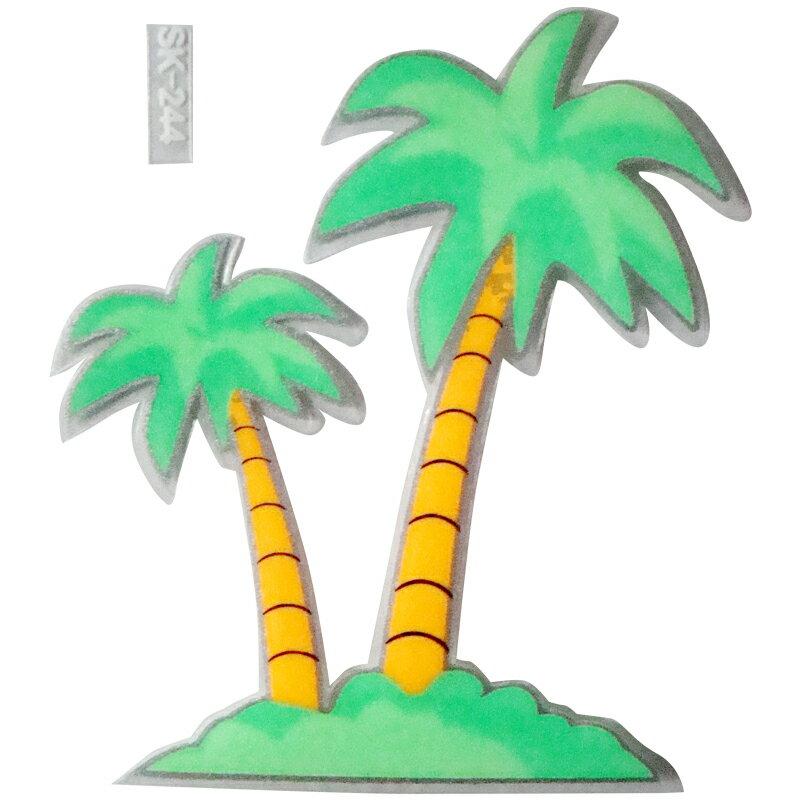 【壁貼王國】 夜光型開關系列無痕貼紙 《椰子樹 - SK244》