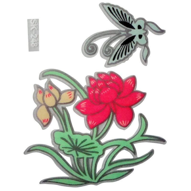 【壁貼王國】 夜光型開關系列無痕貼紙 《蓮與蝶 - SK248》