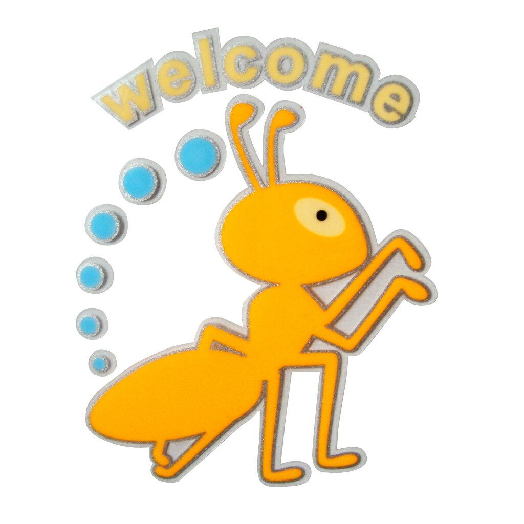 【壁貼王國】 夜光型開關系列無痕貼紙 《黃色小螞蟻 - SK202》