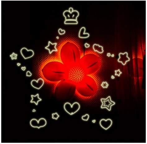 【壁貼王國】 A4夜光貼紙《星星愛心 - Y0003》