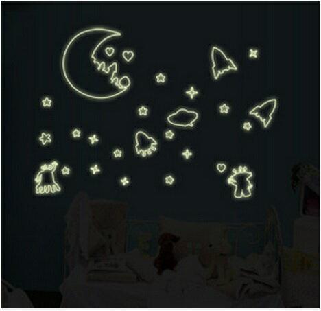【壁貼王國】 A4夜光貼紙《外太空 - Y0004》