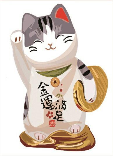 【壁貼王國】 喜慶系列無痕壁貼 《招財貓 - 金運滿足 / C - AY950》