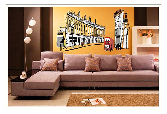 【壁貼王國】建築系列無痕壁貼 《羅馬街道 - AY1911》