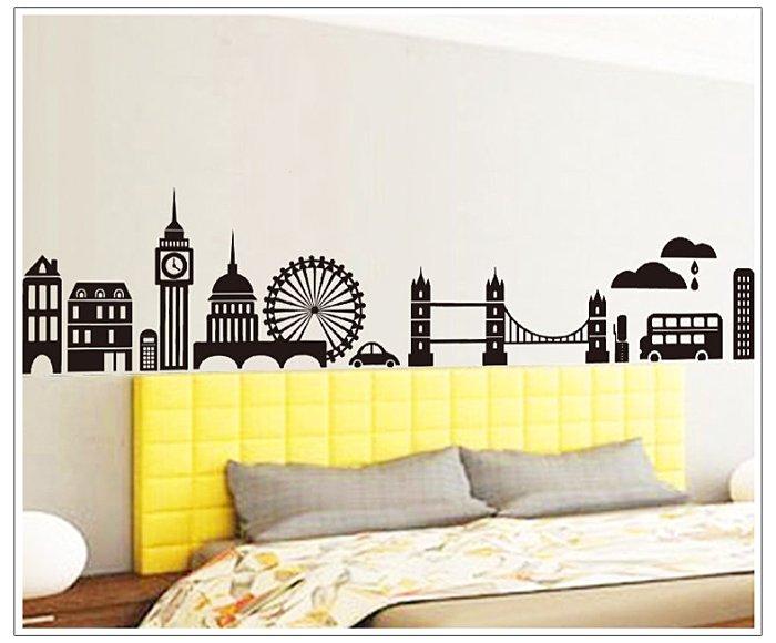 【壁貼王國】 建築系列 無痕壁貼 《城市風光 - AY9082》