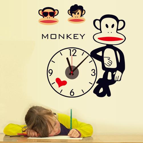 【壁貼王國】時鐘系列無痕壁貼《大嘴猴 - SAC1008》