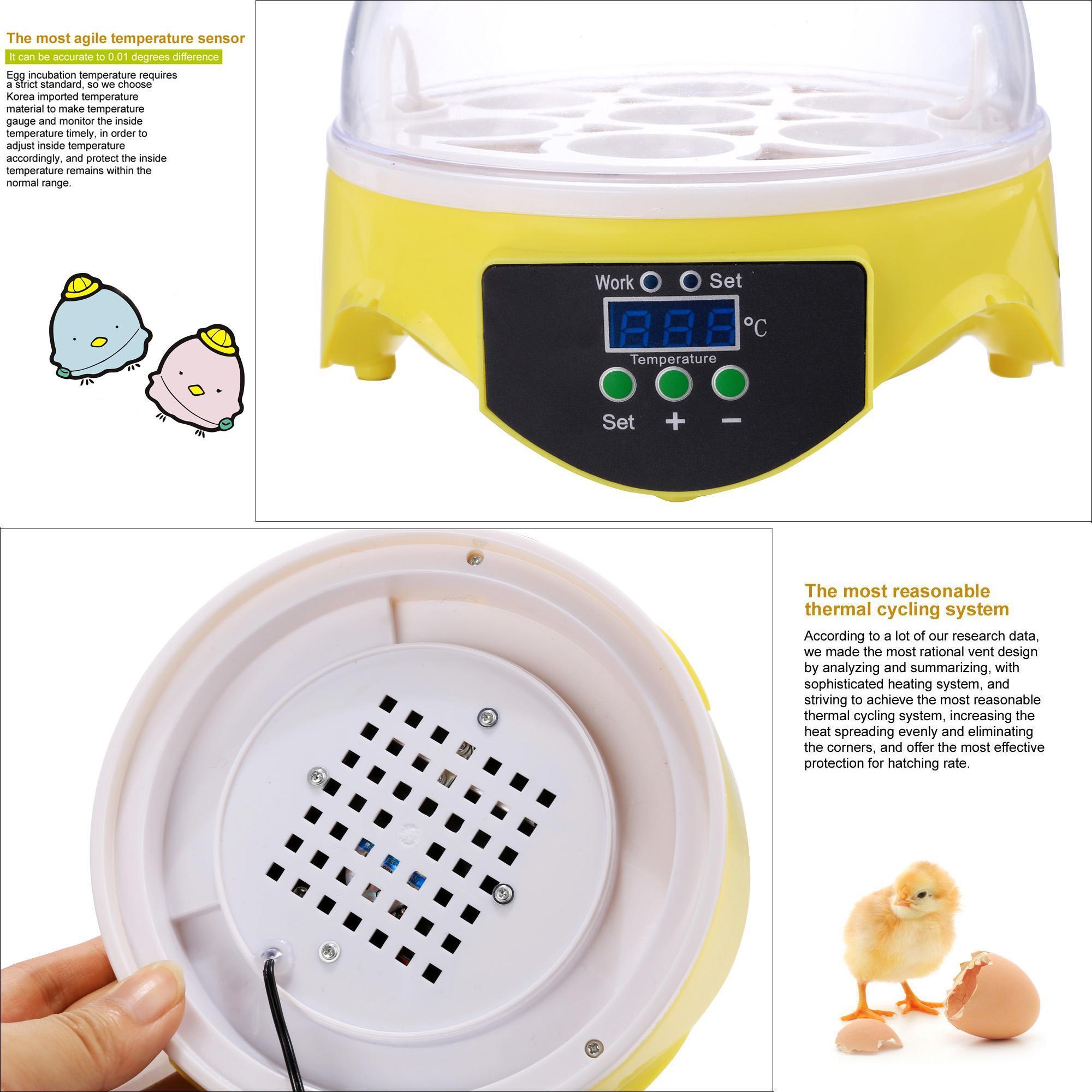 Digital Mini Hatching 7 Egg Incubator 2