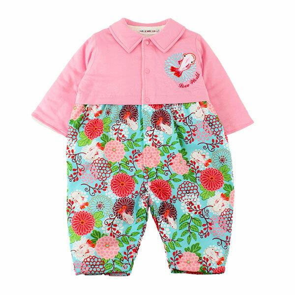 金魚系列 POLO衫領鋪棉衣連褲