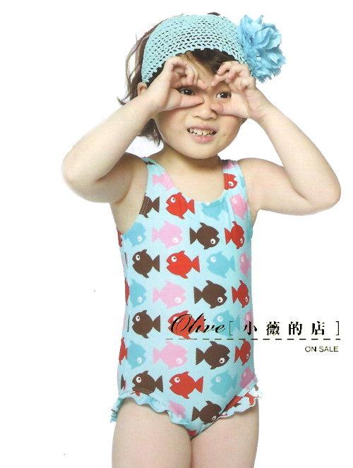 ~小薇的店~名人 專櫃品牌兒童三角連身泳裝 390元NO.36056^(L~XL^)