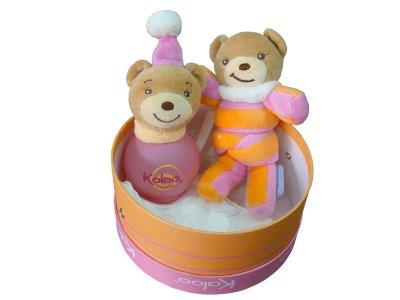 KALOO 寶寶香水 棒棒糖紅色小熊 100ML 禮盒+玩偶 ☆真愛香水★ 另有 彩繪兔兔香水