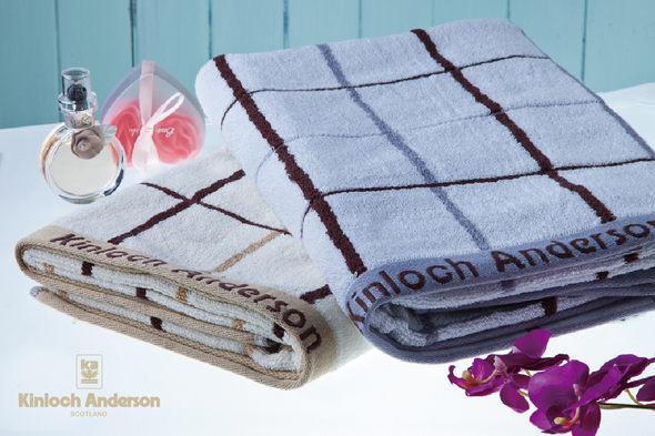 【金‧安德森】格子提花浴巾