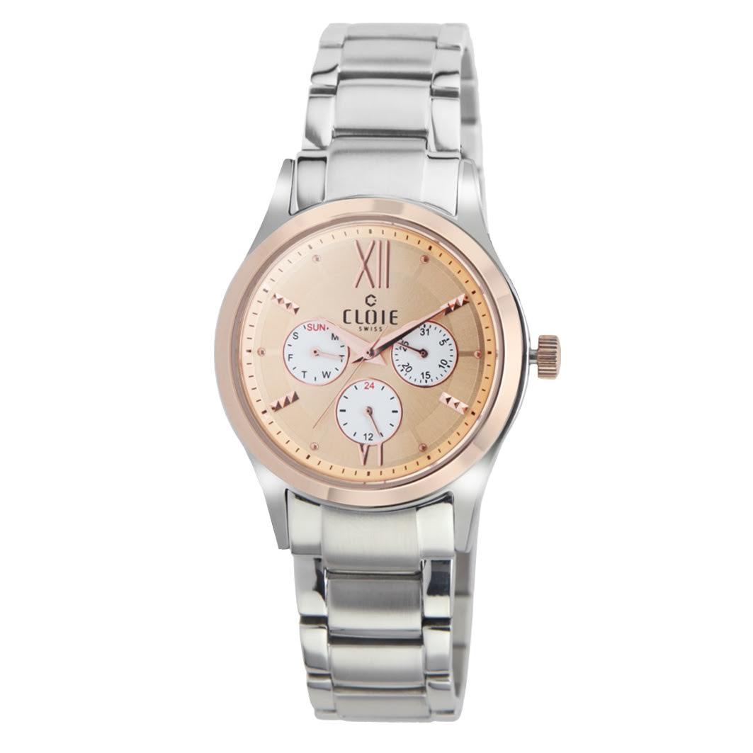 CLOIE 永恆喜悅全日曆時尚腕錶 玫瑰金 31mm CL11054-HC20
