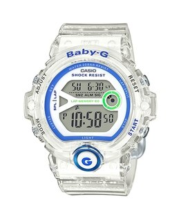 CASIOBABY-GBG-6903-7D慢跑女孩數位流行腕錶透明色