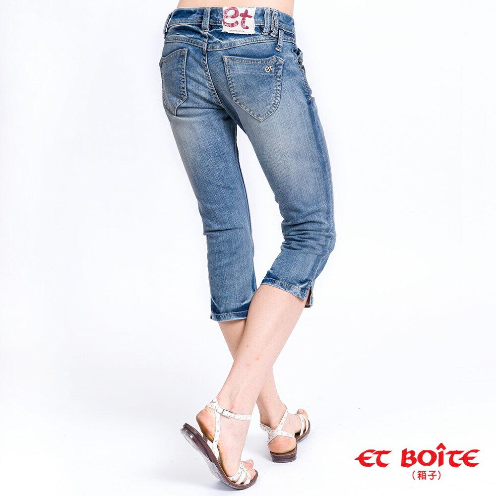 ET別針七分牛仔褲(淺藍) - BLUE WAY  ET BOiTE 箱子 0