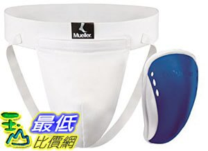 [106美國直購] Mueller Sports Medicine Youth Athletic Supporter with Flex Shield Cup, White/Blue, Large