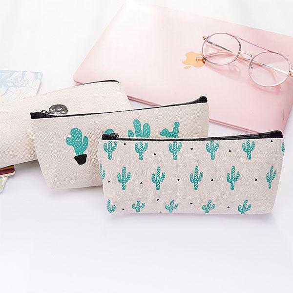 筆袋-日本可愛仙人掌盆栽大容量收納袋 筆袋 鉛筆盒 文具收納【AN SHOP】