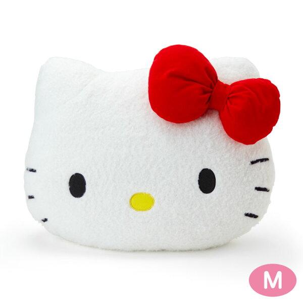【真愛日本】18052300006造型靠墊M-KT大臉ACP凱蒂貓KITTY三麗鷗靠墊抱枕枕頭