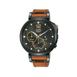 ALBA VD53-X303J(AT3D69X1) 日期顯示三眼計時廣告款腕錶/黑 44mm