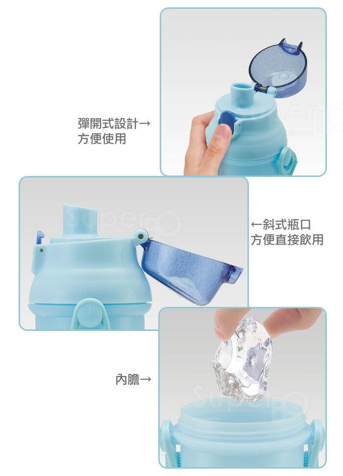 【SKATER】【兒童水壺】艾莎與雪寶 直飲透明水壺 480ml
