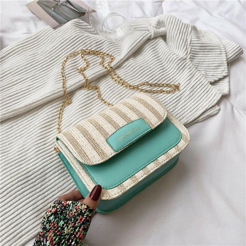 上新夏季流行質感休閒洋氣簡約斜跨小包包女2021新款潮洋氣小方包