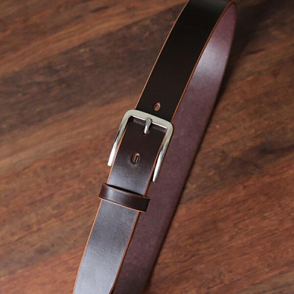 UNIDOSTORE:[U'NIDO]原創手作商務休閒英國JE馬韁革植鞣牛皮皮帶-7色堅固耐用不鏽鋼可客製化暖心禮物