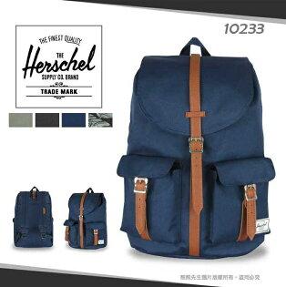《熊熊先生》Herschel大容量雙肩包帆布後背包可調式寬版背帶DAWSON大容量商務包筆電包13吋平板電腦包旅遊休閒包10233