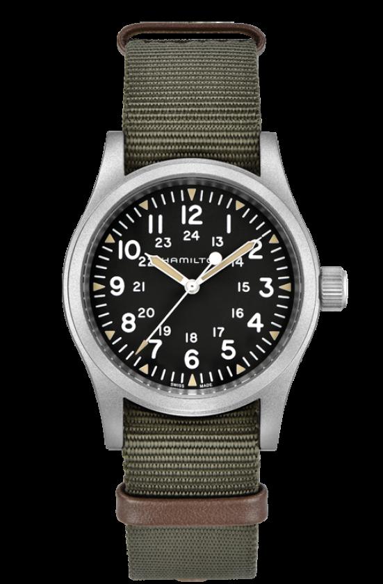 Hamilton 漢米爾頓 KHAKI FIELD 卡其野戰機械腕錶 H69439931 綠 黑 38mm 0
