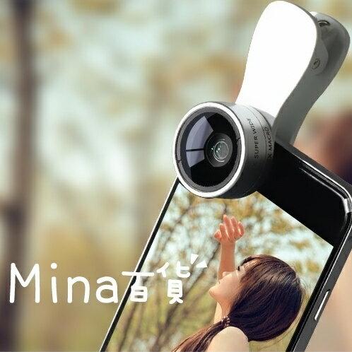 (mina百貨) F-515 二合一手機鏡頭 0.36X超廣角 15X微距 外接 廣角鏡 C0150
