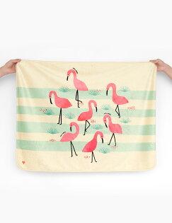 MoguMogu 莫谷市集:Pluto9-韓國時尚彩繪雙面毯-〈紅鶴〉
