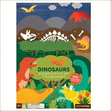 美國PetitCollage-貼紙遊戲書-恐龍世界
