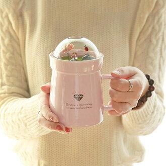 【葉子小舖】微景花園陶瓷杯/馬克杯/咖啡杯/牛奶杯/生日禮物/交換禮物/聖誕禮物/情侶送禮/辦公室小物