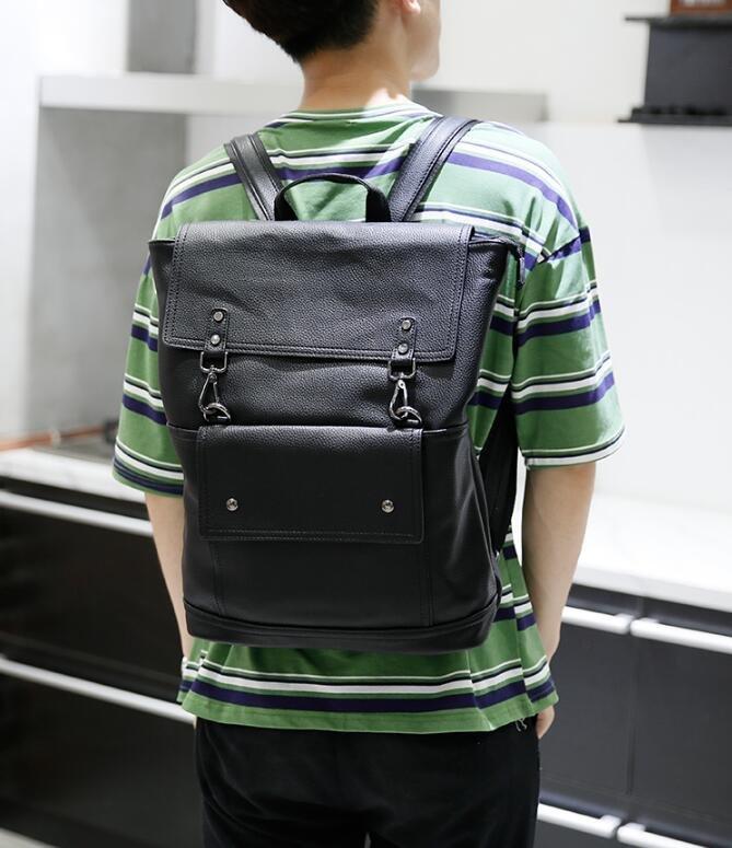 <br/><br/> FINDSENSE Z1 韓國 時尚 潮 男 皮質 荔枝紋 學生包 書包 電腦包 旅行包 後背包 雙肩包<br/><br/><a href=