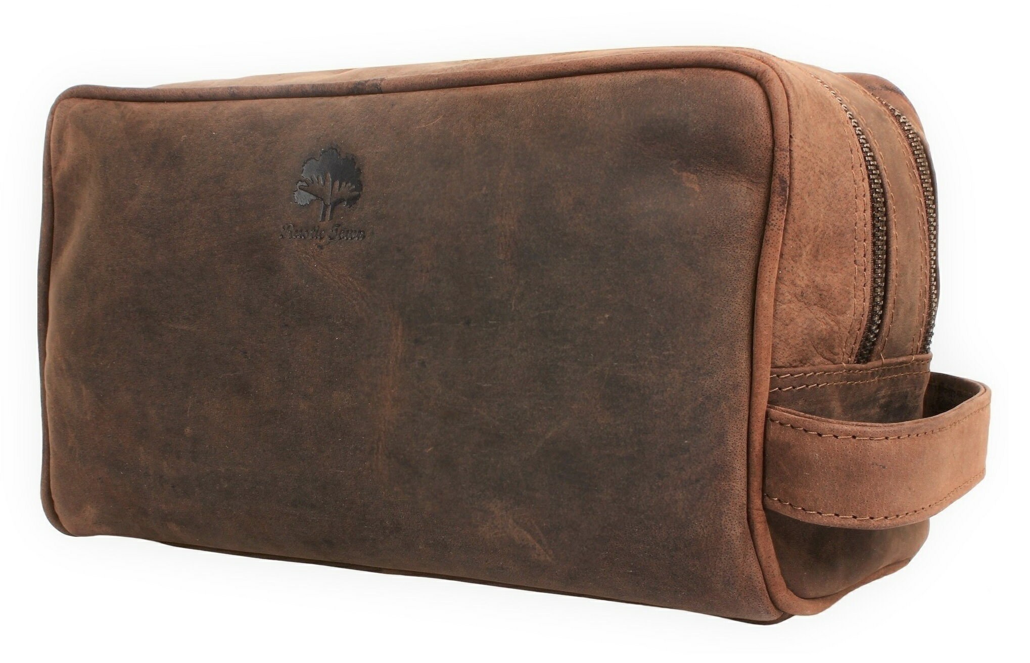 Genuine Leather Travel Toiletry Bag - Dopp Kit Organizer By Rustic Town 0 5874ed7c56430