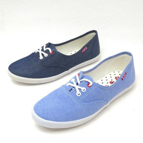 彩虹屋美鞋:*免運*時尚鞋帶舒適平底休閒帆布鞋*11-C1859(水藍藍)*[彩虹屋]*現+預