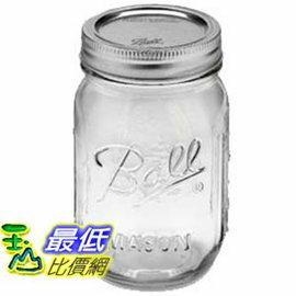 [美國直購] 1入裝 一般口徑 Ball MASON Jar 梅森 16oz 473ml 玻璃罐 玻璃瓶 收納罐 CB1