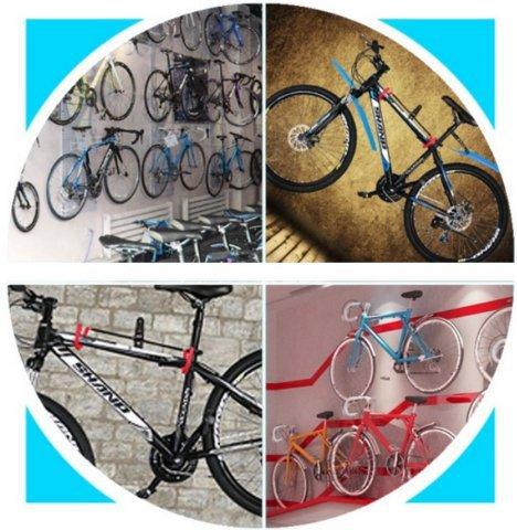 【V型款】自行車壁掛勾 自行車掛鉤 自行車壁掛架自行車壁掛鉤單車壁掛架單車壁掛鉤自行車展示架單車展示架《意生》