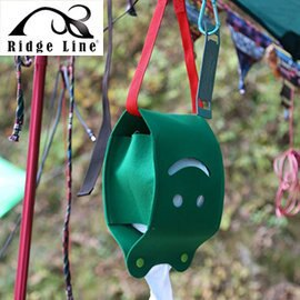 【【蘋果戶外】】Ridge Line OT867277YE 韓國 彩色微笑面紙盒 綠色 放置便利/可做吊飾物