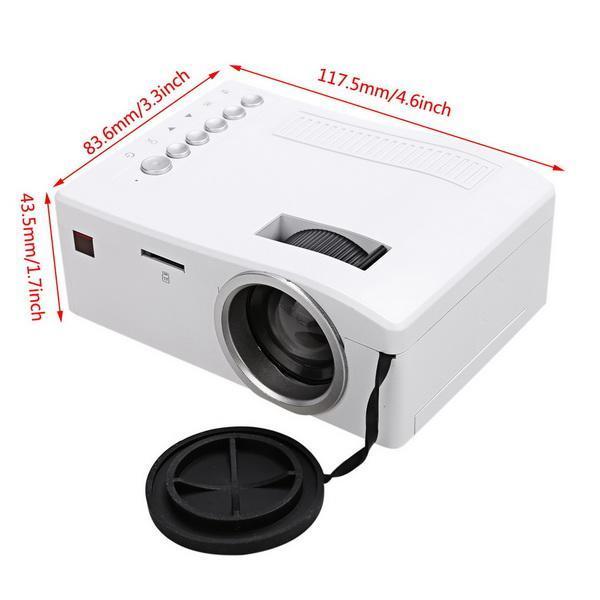 Micro Mini LED LCD Projector Portable Home Cinema Theater Multimedia 5