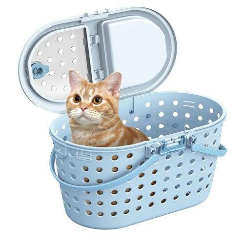 MARUKAN 日本進口 寵物外出多功能提籠 藍色(CT-328) ,附肩背袋可斜背,貓咪或小型犬適用