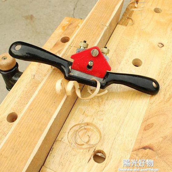 美科木工鳥刨一字修邊可調節手推刨子家用木匠 工具diy木工刨 NMS陽光好物