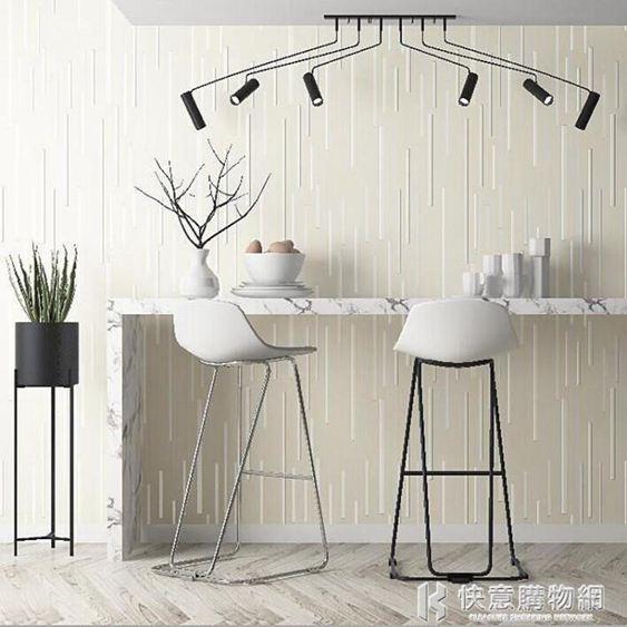 壁貼壁紙現代簡約無紡布素色立體北歐風牆紙素色豎線條客廳背景牆 NMS