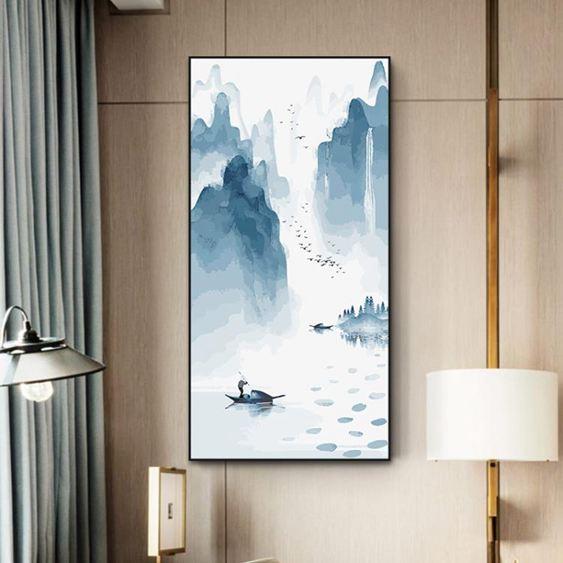 數字油畫diy 客廳駿馬風景手工繪數碼油彩填色大幅裝飾畫 荷花韻 ATF