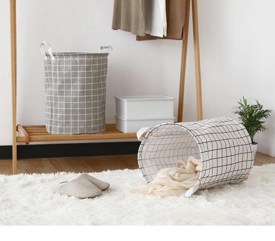 收納籃 臟衣籃臟衣服收納筐家用布藝臟衣簍洗衣籃北歐摺疊防水玩具收納桶 ATF
