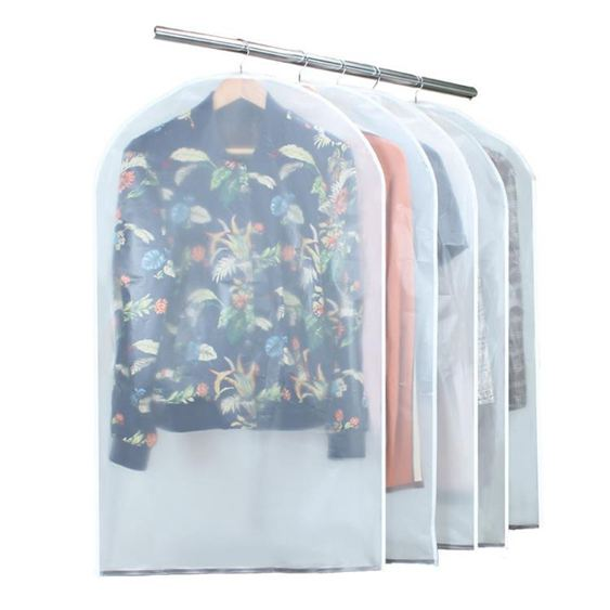 磁吸防塵套衣服防塵罩透明衣物防塵袋大衣罩衣服套收納衣袋2枚裝