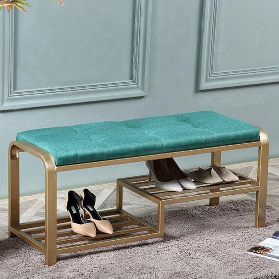 簡約現代門口換鞋凳北歐沙發凳長條凳服裝店試衣凳創意臥室床尾凳  ATF
